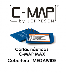 Cartografía C-MAP MAX megawide