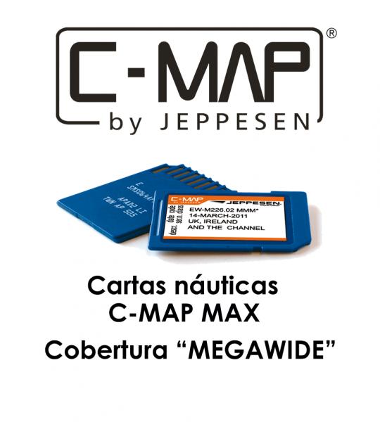 Cartografía C-MAP MAX megawide