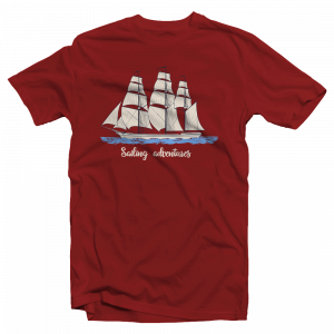 "Camiseta marinera algodón ""Sailing Adventures"""