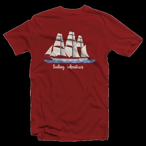 "Camiseta marinera algodón ""Sailing Adventures"""