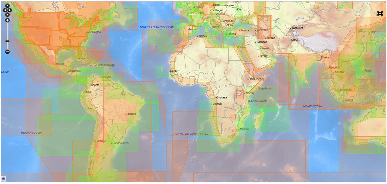 Cobertura mundial C-map