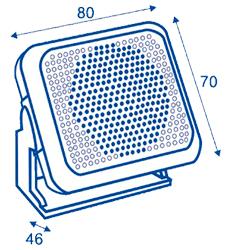 Altavoz estanco para VHF marino dimensiones