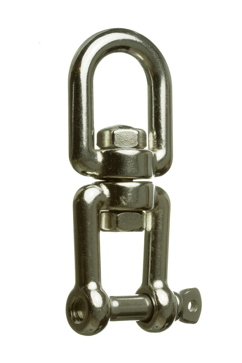 doble grillete M6-2 piezas Abimars Aro giratorio con grillete giratorio de acero inoxidable 316 de grado marino con cadena giratoria de ancla giratoria