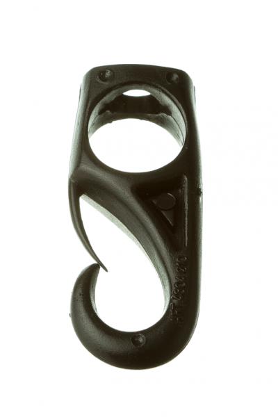 Mosquetón de nylon negro