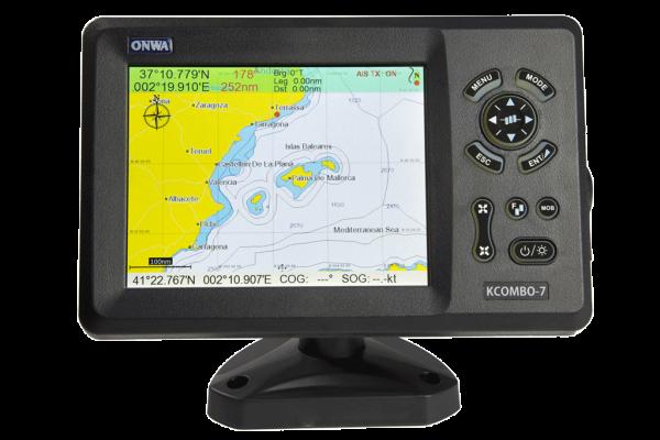 ONWA KCOMBO-7 GPS PLOTTER + SONDA