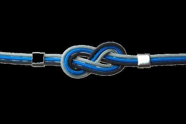collar nautico azul
