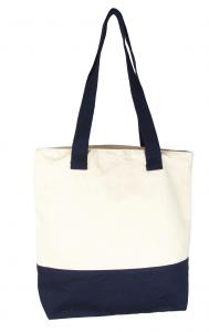 bolsa playera rayas azul marino y blanco