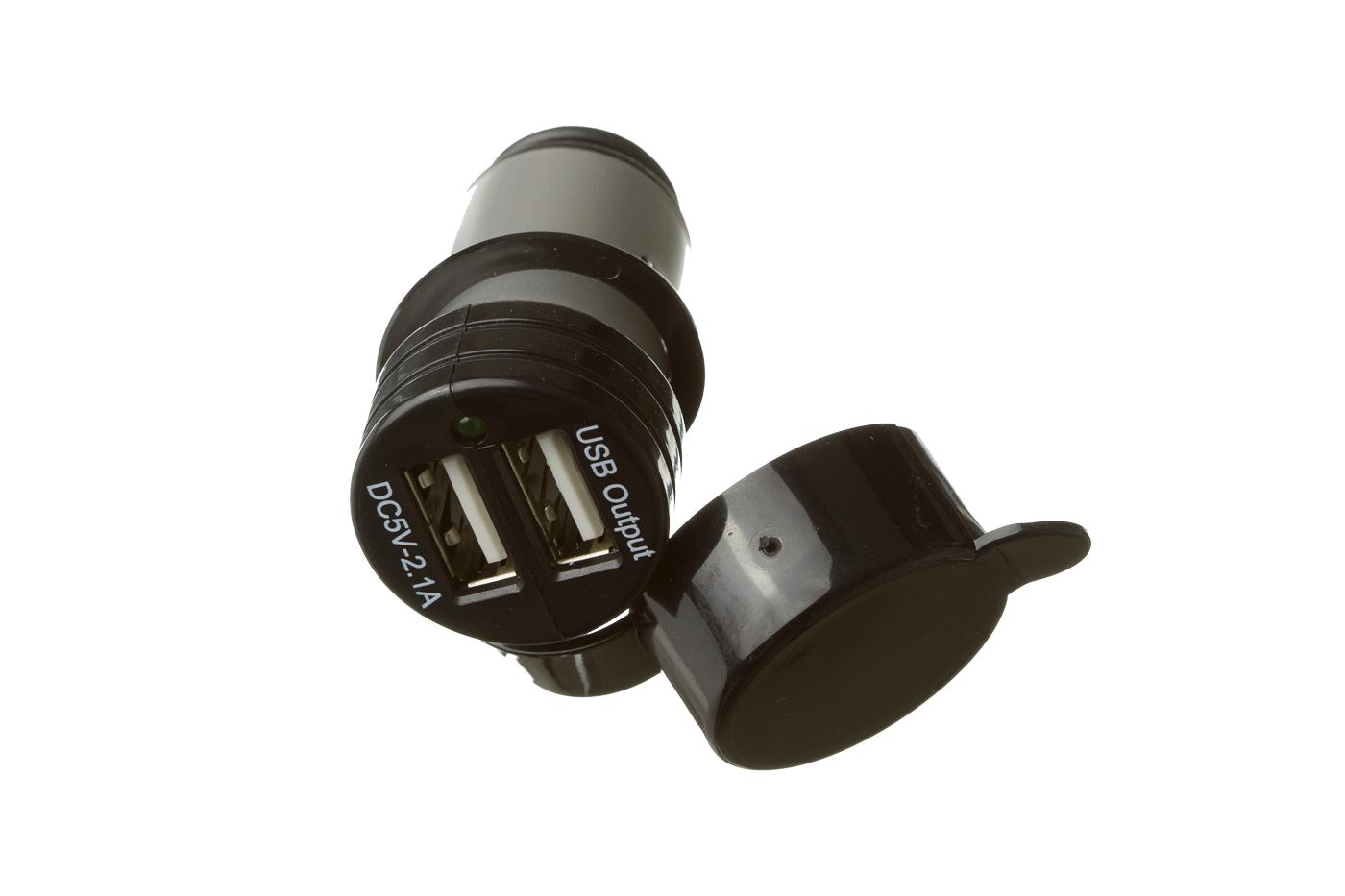 Conector USB mechero de doble entrada USB
