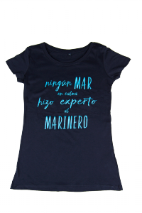 Ningún mar en calma camiseta mujer