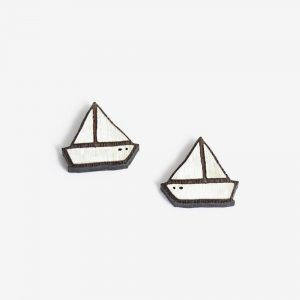 earrings little boat