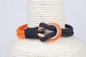 pulsera marinera hombre azul y naranja