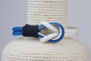 pulsera marinera hombre azul y blanca
