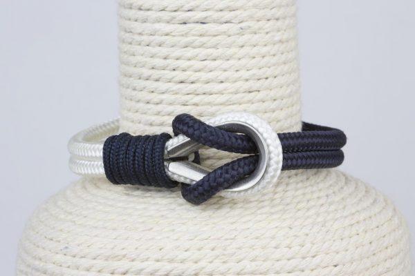 pulsera marinera hombre azul marino y blanca