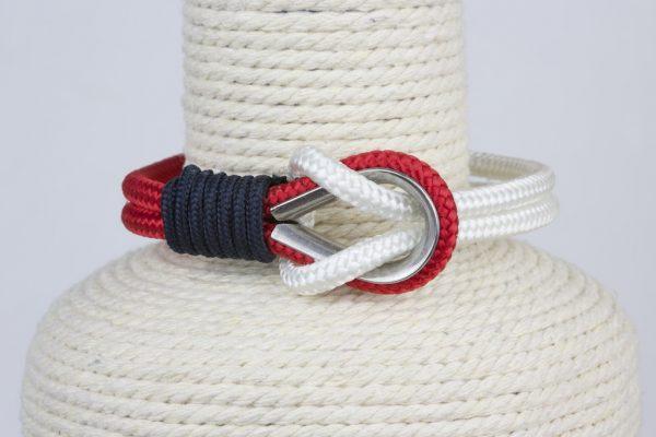 pulsera marinera hombre rojo y blanca