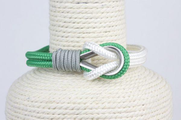 pulsera marinera hombre verde y blanca