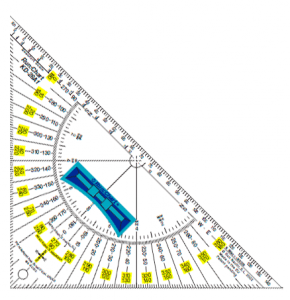 Triángulo náutico bicolor