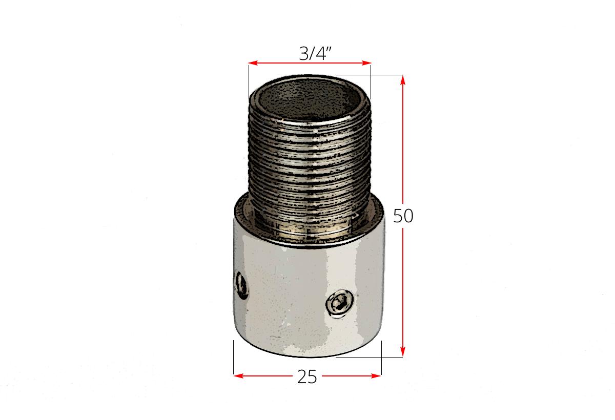 Adaptador antena dimensiones