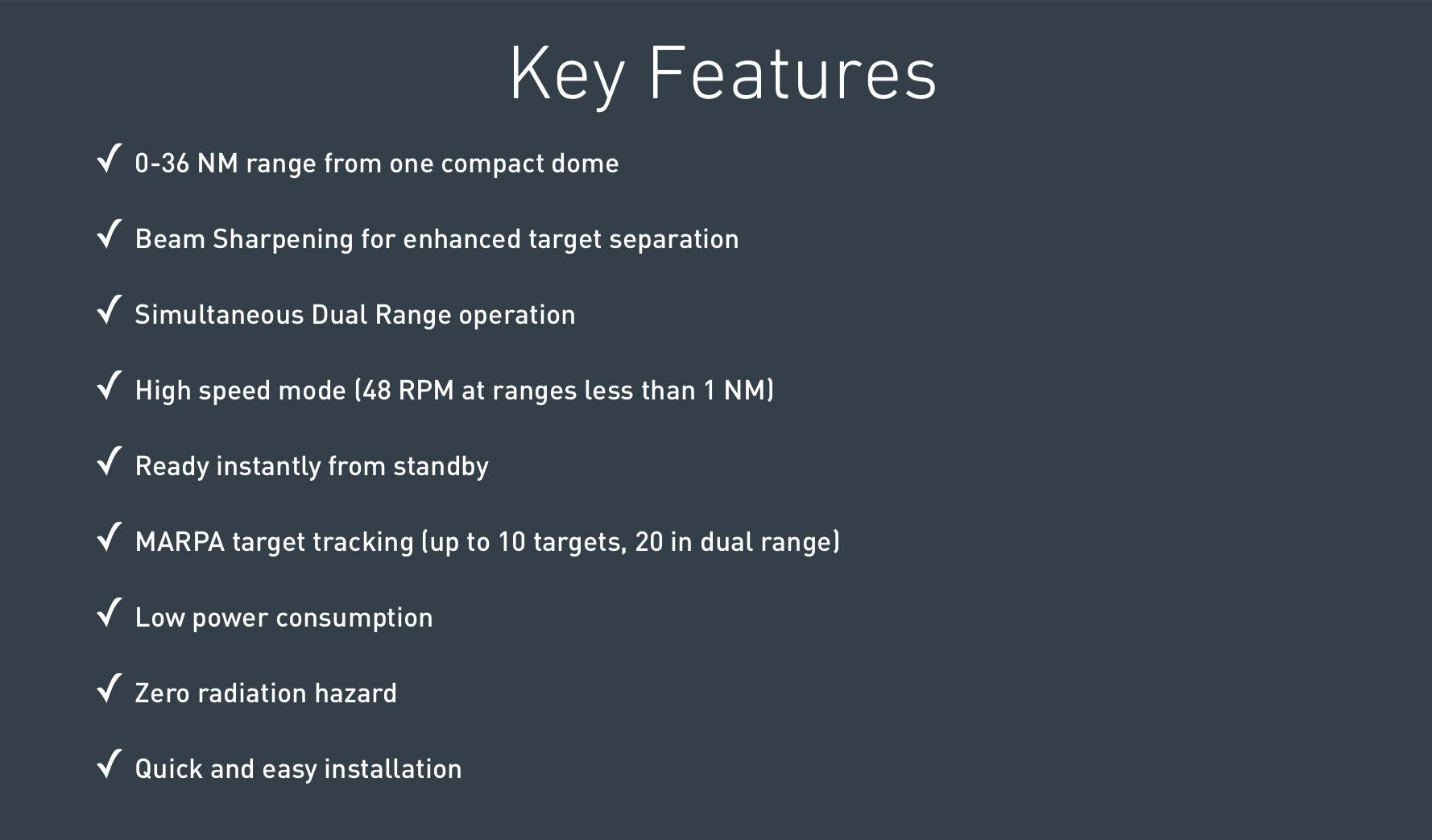 Características radar Simrad 4G