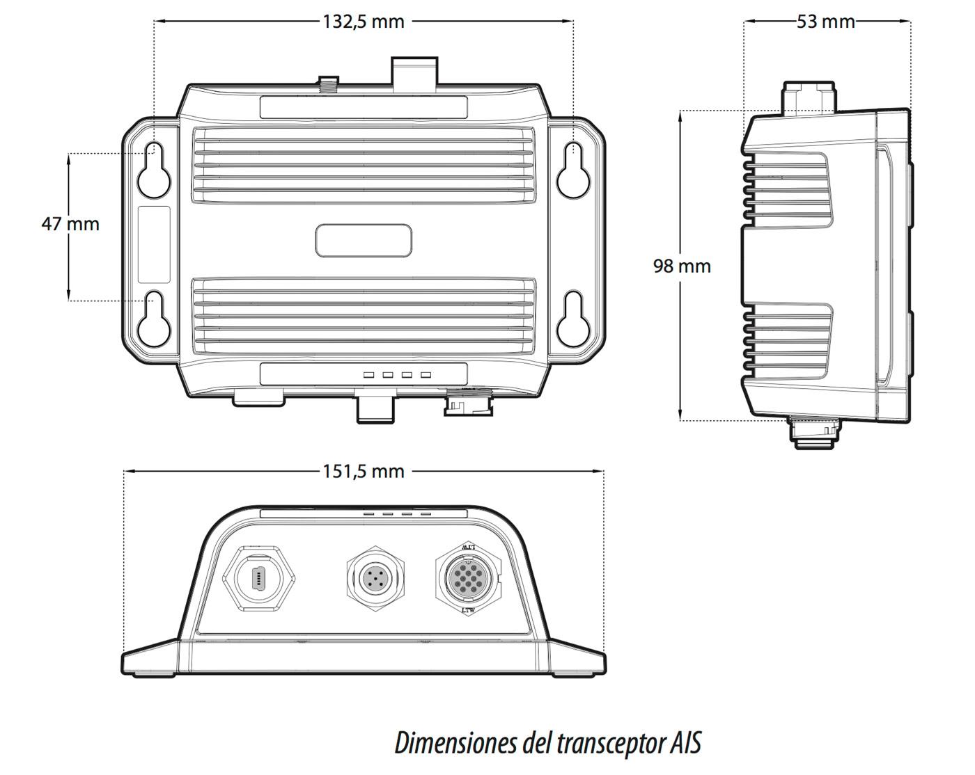 Dimensiones transpondedor