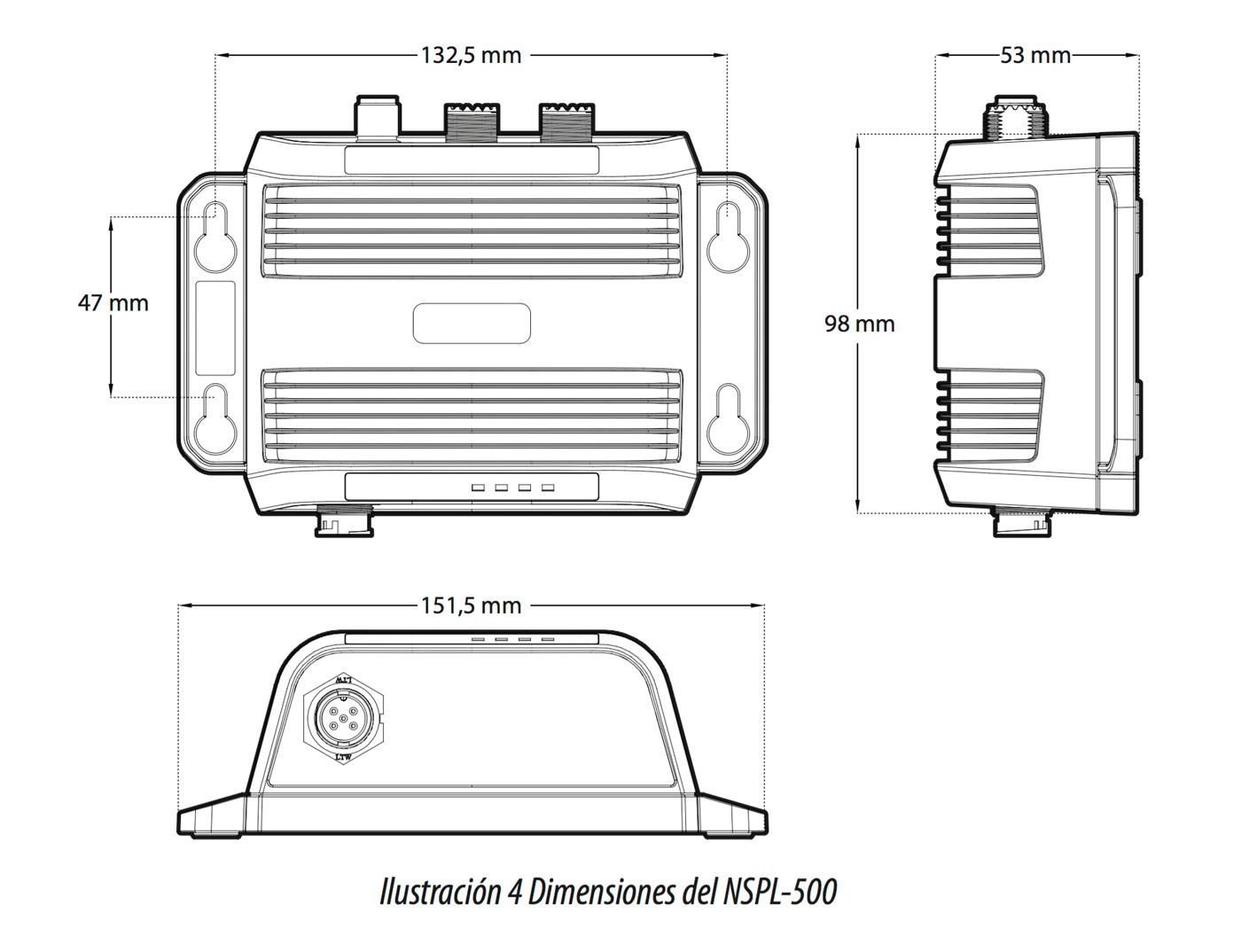 Dimensiones NSPL500