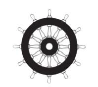 Logo rueda de timón