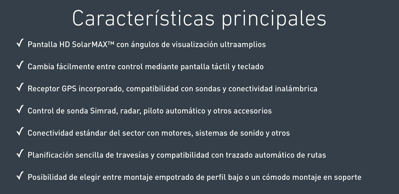 Características principales Simrad