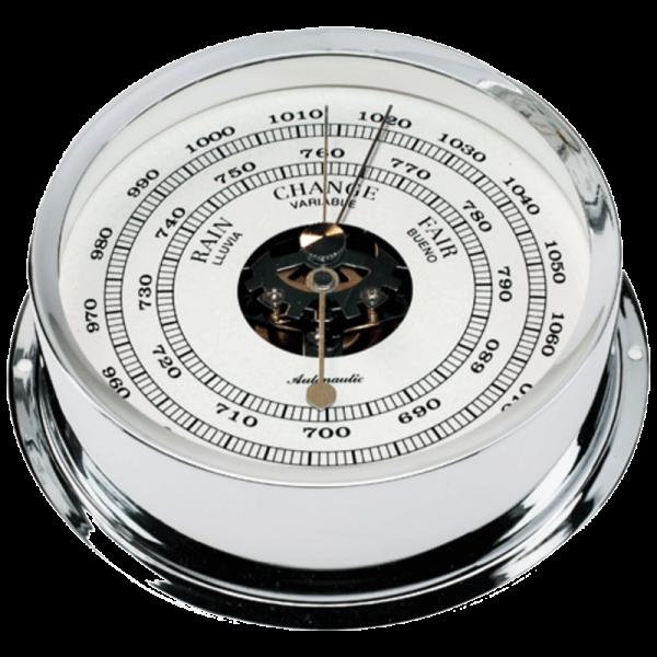 barómetro cromado náutico