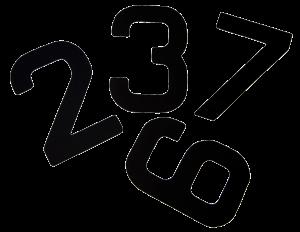 números de vela barco