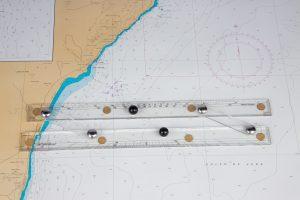 regla paralela de navegación