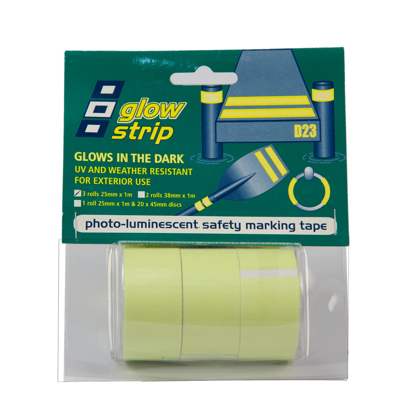 cinta adhesiva fosforescente